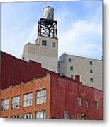 City Buildings On Bowery Metal Print