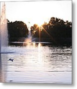 City Center Park Sunrise Metal Print