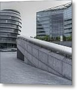 City Hall And The Shard Hms Belfast Thames London Metal Print
