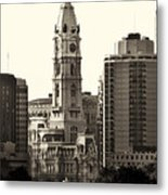 City Hall From The Parkway - Philadelphia Metal Print