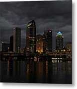 City In The Storm Metal Print