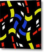 City Lights Abstract Metal Print