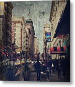 City Sidewalks Metal Print