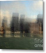 City View Through Window Metal Print by Catherine Lau