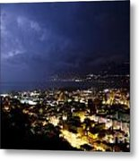 Cityscape At Night Metal Print
