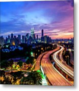 Cityscape Of Kuala Lumpur Metal Print