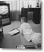 Civil Rights, Classes On Television Metal Print
