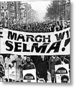 Civil Rights March, 1965 Metal Print by Granger