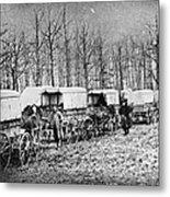Civil War: Ambulances, C1864 Metal Print