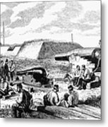 Civil War Battery Scene Metal Print