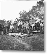 Civil War Burial, 1864 Metal Print