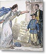 Civil War Cartoon Metal Print