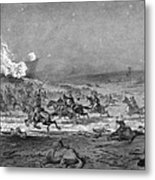 Civil War: Cavalry Charge Metal Print