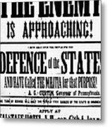 Civil War: Lees Campaign Metal Print