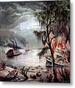 Civil War: Naval Battle Metal Print