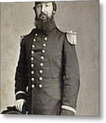 Civil War Union Commander Metal Print