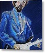 Clapton Jams Blue Metal Print by Emily Michaud