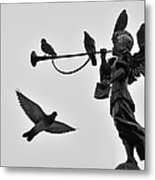 Clarinet Statue Metal Print