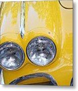 Classic Antique Chevy Corvette - Detail Metal Print