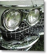Classic Car - White Grill 1 Metal Print