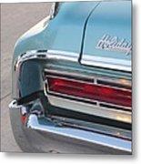 Classic Car Aqua Holiday Metal Print