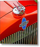 Classic Chevrolet Hood And Grill Metal Print