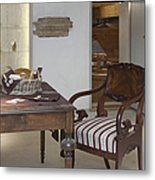 Classic Desk And Display Cases Metal Print