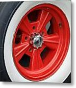 Classic White Wall Tire And Mag Metal Print