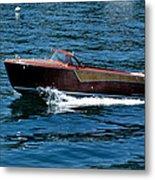 Classic Wooden Boat Metal Print