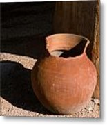 Clay Pot And Shadow Metal Print