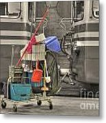 Cleaning Equipment Metal Print