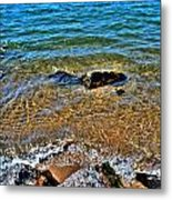 Clear Waves  Metal Print