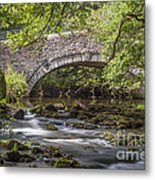 Clearbrook River Meavy Metal Print by Donald Davis