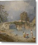 Clearing Up For Fine Weather Beddgelert North Wales 1867 Metal Print