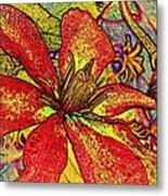 Clematis In Colored Pencil  Metal Print