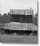 Clewis Family Tobacco Barn II In Black And White Metal Print