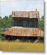 Clewis Family Tobacco Barn II Metal Print