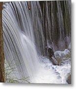 Cliff Falls In Maple Ridge Metal Print