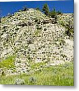 Cliff Side Panorama Metal Print