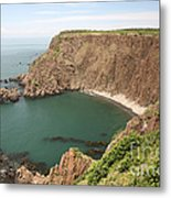 Cliffs On Grand Manan Island Metal Print