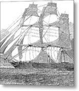 Clipper Ship, 1850 Metal Print
