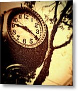 Clock In San Francisco  Metal Print