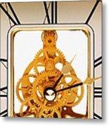 Clock Mechanism Metal Print by Victor De Schwanberg