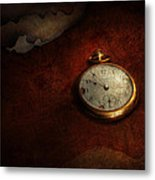 Clock - Time Waits For Nothing  Metal Print