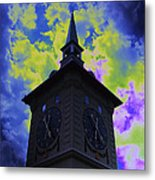 Clock Tower Night Metal Print
