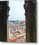 Clock Tower View - Prague Metal Print
