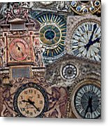 Clocks Of Paris Metal Print