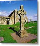 Clonmacnoise, Co Offaly, Ireland High Metal Print