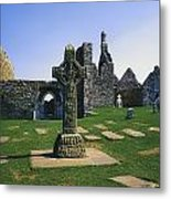 Clonmacnoise, Co Offaly, Ireland, West Metal Print