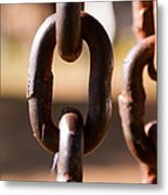 Close Up Of A Chain Link Metal Print